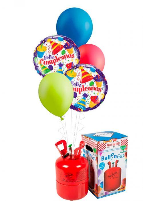 Helio + Bouquet Feliz Cumpleaños cupcakes