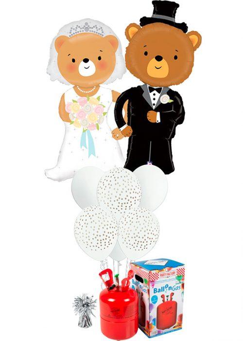 Helio + Bouquet boda Ositos