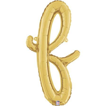 Globo letra F cursiva dorada