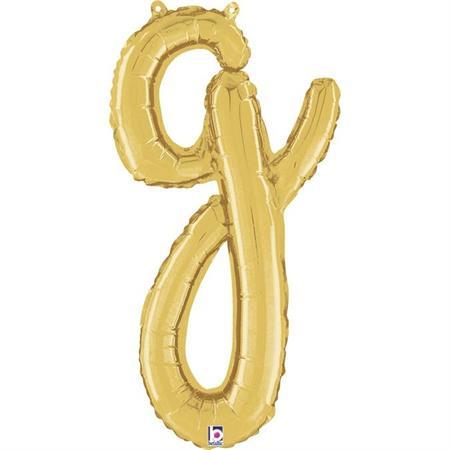 Globo letra G cursiva dorada