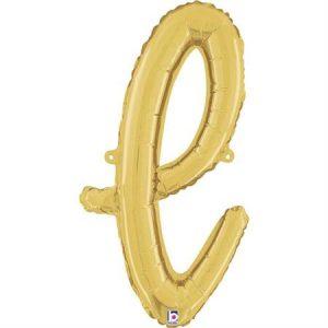 Globo letra L cursiva dorada