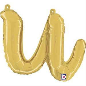 Globo letra U cursiva dorada
