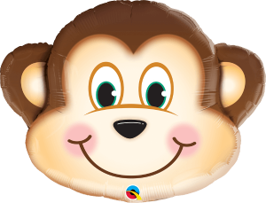 Globo metálico Mono