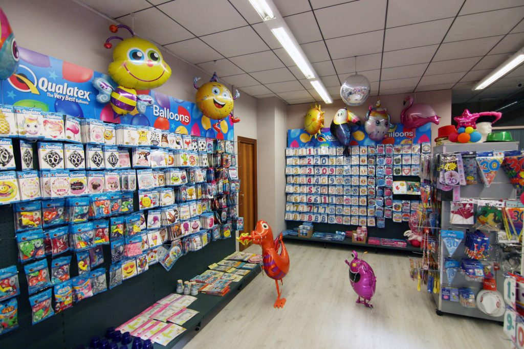 Tienda Globofiesta Reus, panel de globos