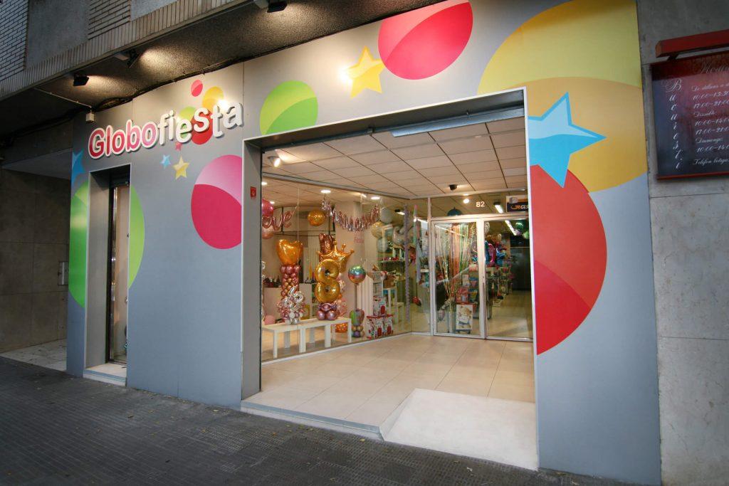 Fachada tienda Globofiesta Reus
