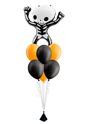 Bouquet de globos Esqueleto Halloween