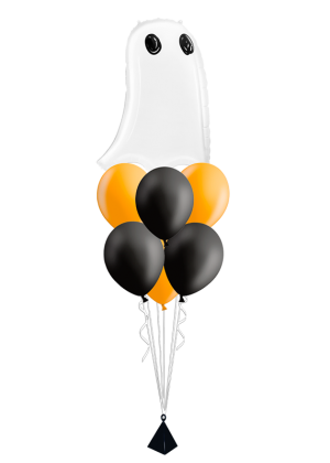 Bouquet de globos Fantasma Halloween