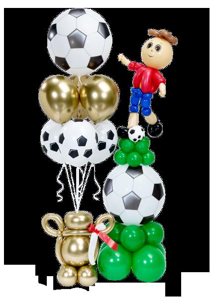 decoracion futbol globos
