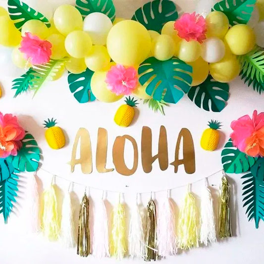 Fiesta con globos temática Tropical