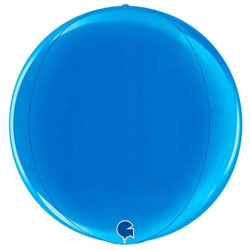 globo metalico esfera azul