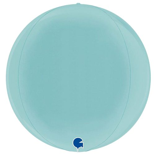 globo metalico esfera azul claro