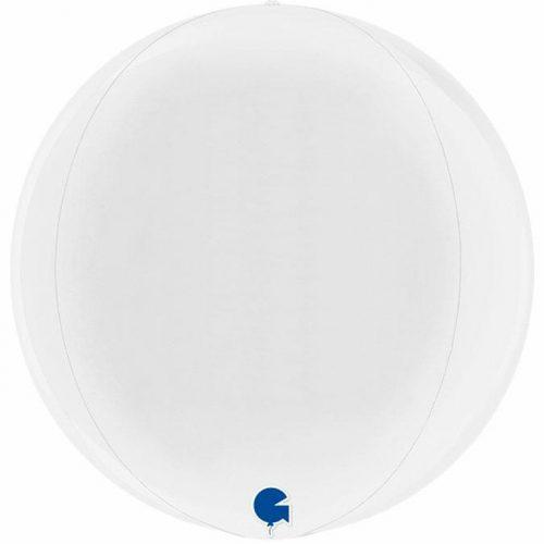 globo metalico esfera blanco