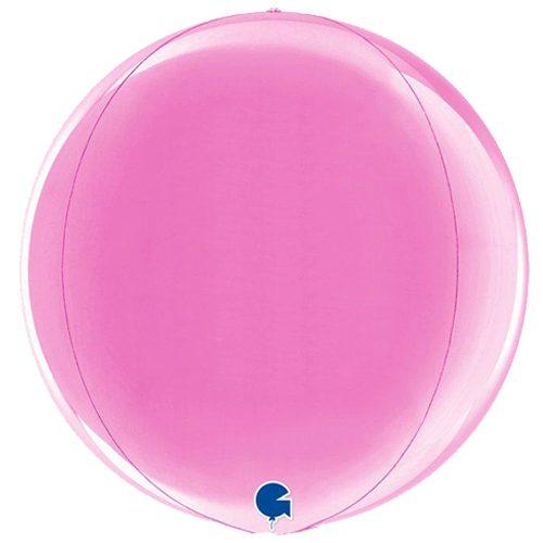globo metalico esfera fucsia