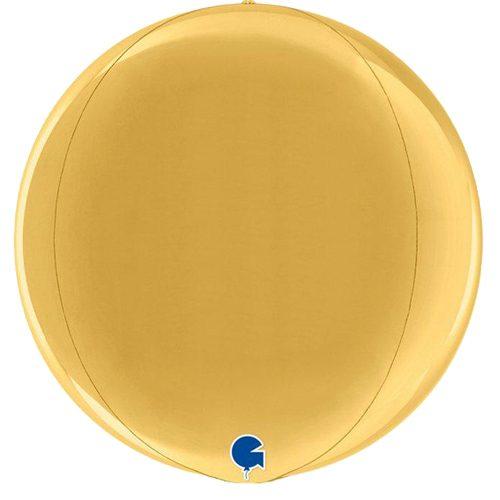 globo metalico esfera dorado
