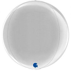 globo metalico esfera plata
