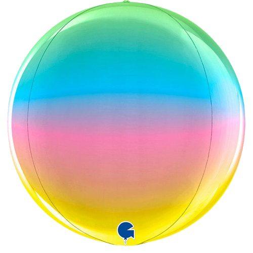 globo metalico esfera rainbow