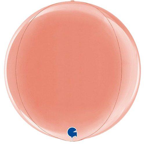 globo metalico esfera rose gold