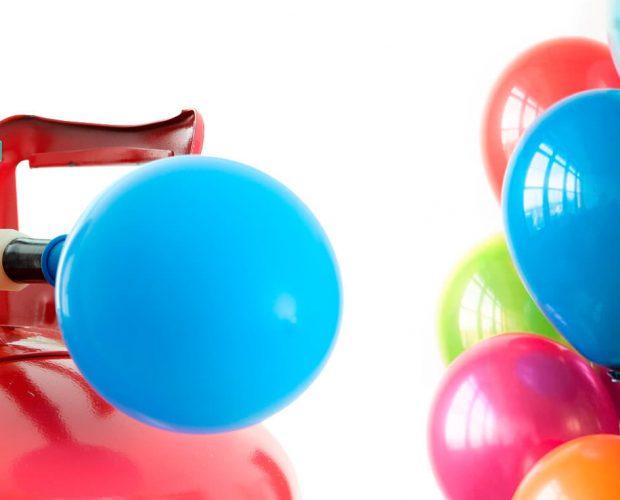 Kits de helio y globos de látex
