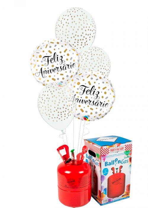 Helio + Bouquet Feliz aniversario