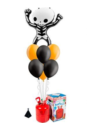Helio + Bouquet Esqueleto Halloween