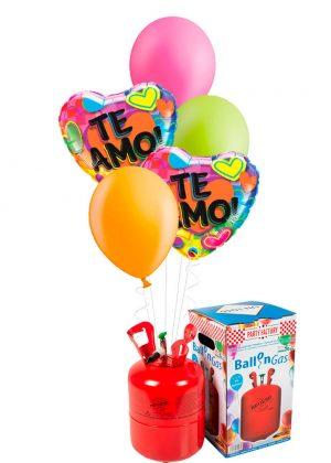 Helio + Bouquet globos Te Amo