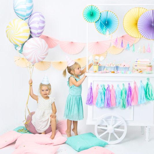 Decoración fiesta colores Pastel
