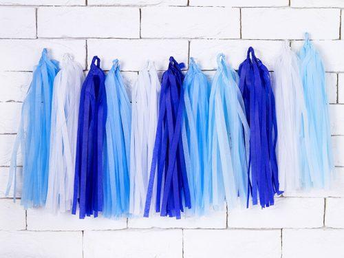 Guirnalda Tassel colores Pastel azul