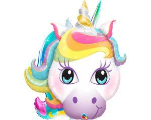 Globo metálico Unicornio