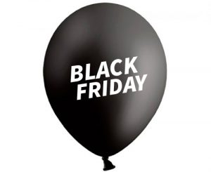 Globos de látex Black Friday