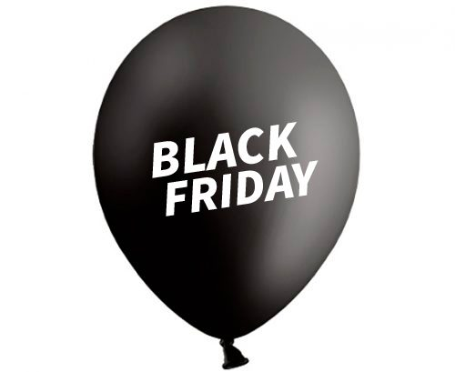 Globos de látex Black Friday