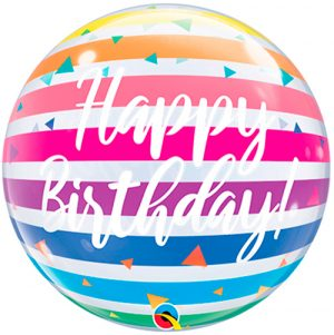 Globo burbuja Hapy Birthday Rainbow
