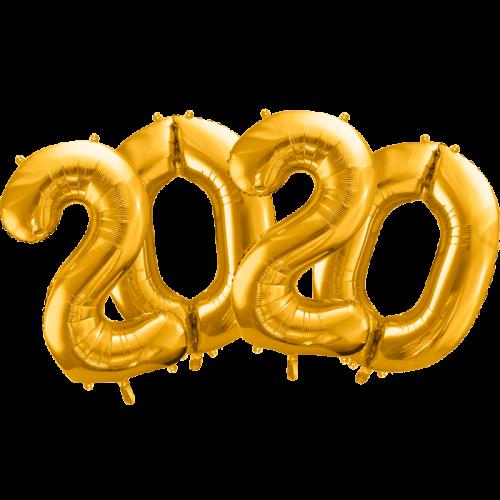 Pack 2020 números 86 cm dorado