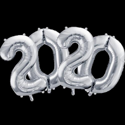 Pack 2020 números 86 cm plata
