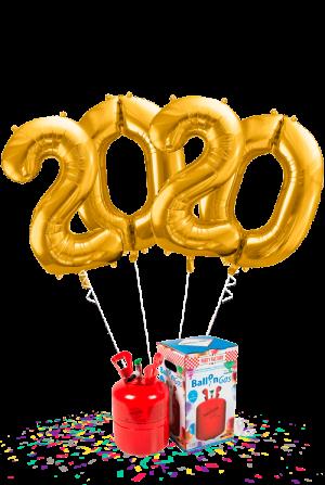 Helio mini + Pack 2020 números 86 cm dorado