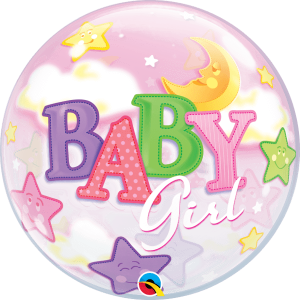 Globo burbuja Bebe Niña