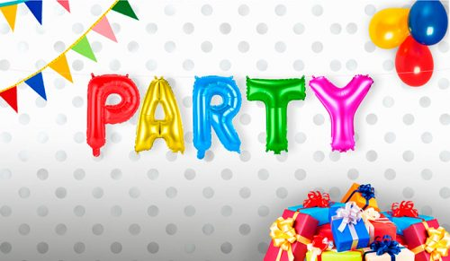 Pack letras PARTY 36 cms.