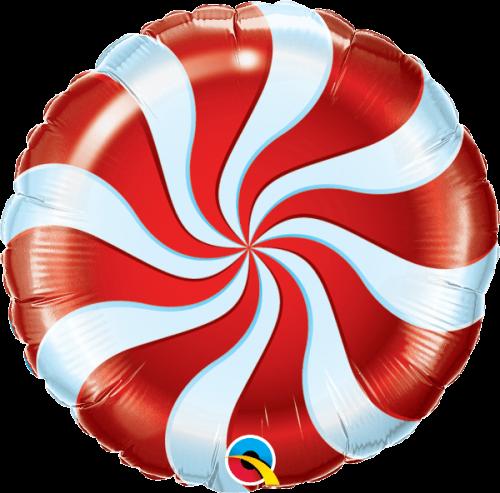 Globo metálico Caramelo navideño rojo