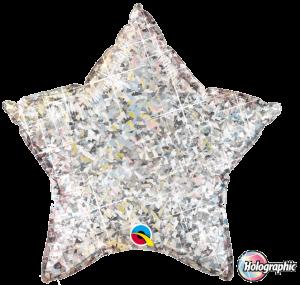Globo metálico estrella Holográfica plata
