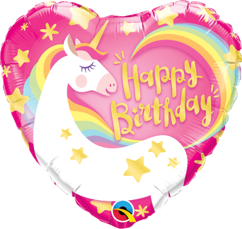 Globo metálico Cumpleaños Unicornio mágico