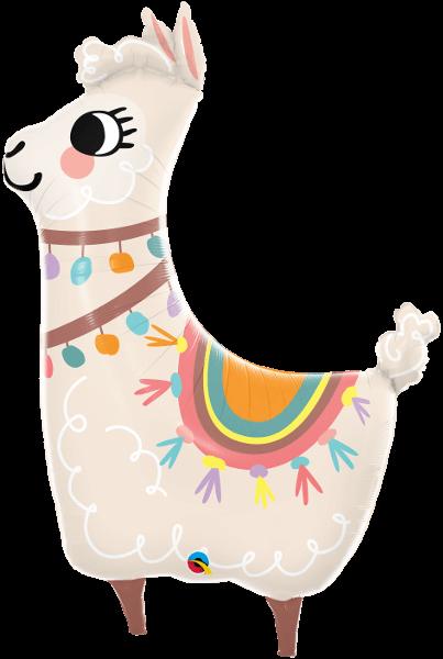 Globo metálico Llama