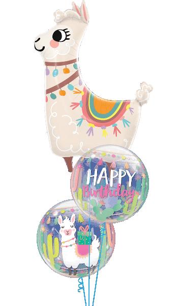 Globo burbuja Cumpleaños Llama