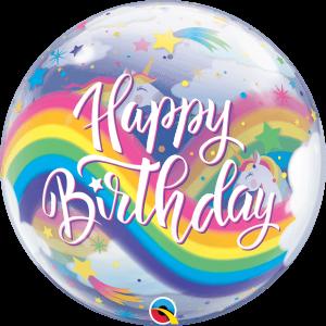 Globo burbuja Cumpleaños Unicornio