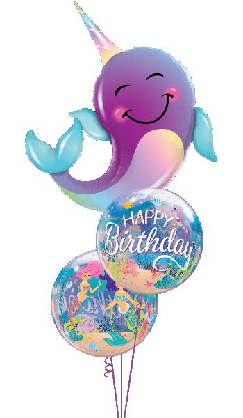 Globo burbuja Cumpleaños Sirena