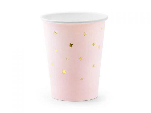 Vaso Azul con Estrellas Doradas, para vestir tu mesa de fiesta. Divertidos y elegantes, son ideales para combinar en tus mejores celebraciones.