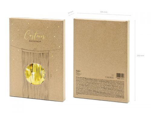 Cortina de flecos metalizada Oro