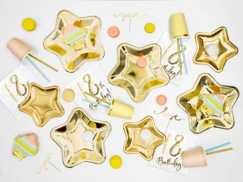 Platos Estrella color dorado 23cm