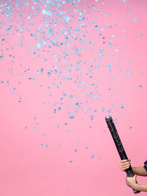 Cañon de Confeti color Azul 60 cm