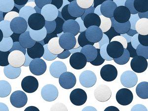 Confeti Circulo Mix tonos Azules