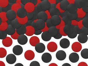 Confeti Circulo Mix tonos Rojo y Negro