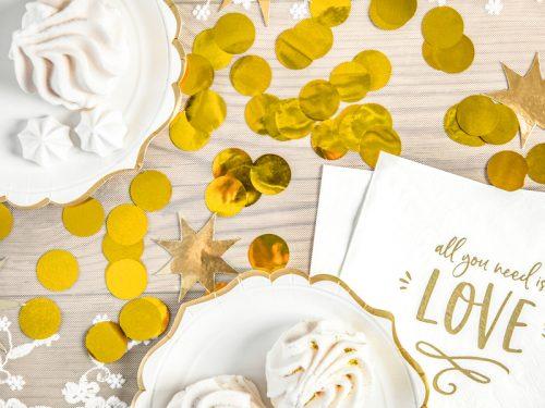 Confeti Circulo color Dorado
